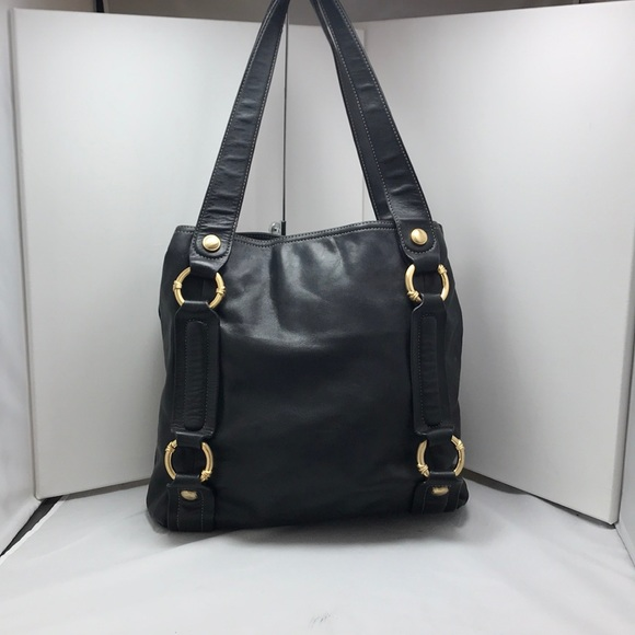 b. makowsky Handbags - B Makowsky Black Glove Leather Tote
